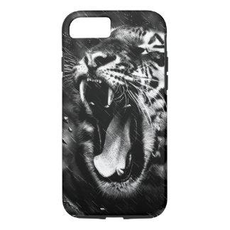 Black & White Beautiful Tiger Head Wildlife iPhone 8/7 Case