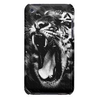 Black & White Beautiful Tiger Head Wildlife iPod Case-Mate Cases