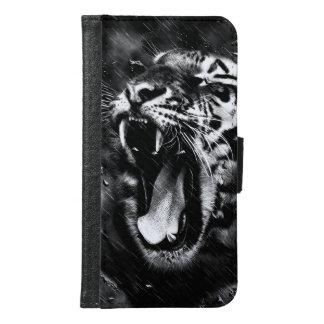 Black & White Beautiful Tiger Head Wildlife Samsung Galaxy S6 Wallet Case