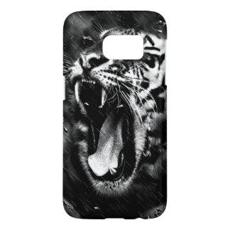 Black & White Beautiful Tiger Head Wildlife Samsung Galaxy S7 Case
