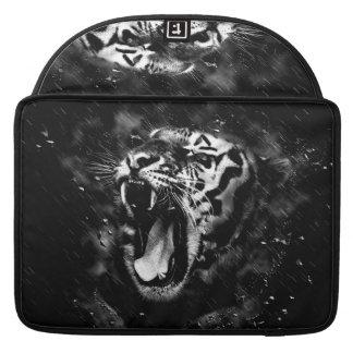 Black & White Beautiful Tiger Head Wildlife Sleeve For MacBook Pro