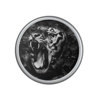 Black & White Beautiful Tiger Head Wildlife Speaker