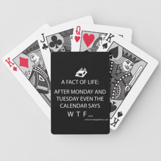 Black & White Bicycle Playing Cards