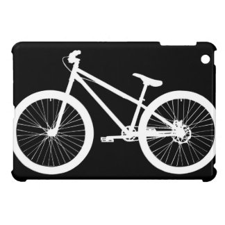 Black & White Bicycle Silhouette iPad Mini Case