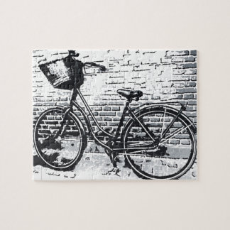 Black & White Bicycle Sketch Puzzles