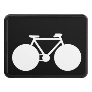 black white bicycle trailer hitch cover