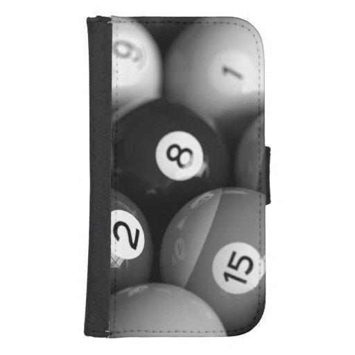 Black & White Billiards Samsung Phone Wallet Case