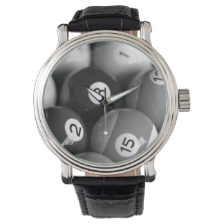 Black & White Billiards Watch