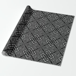 Black & White Binary Fractal Wrapping Paper