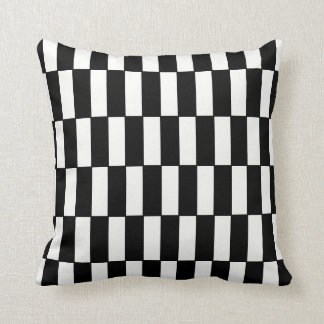 "Black/White ""Block Shift"" Repeating Pattern Pillow"