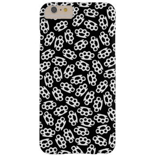 Black & White Brass Knuckles Coated iPhone 6+ Case