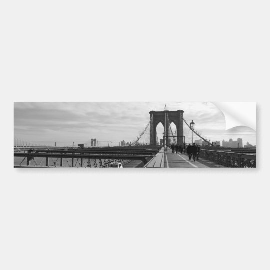 Black White Brooklyn Bridge - NY New York nr 1 Bumper Sticker