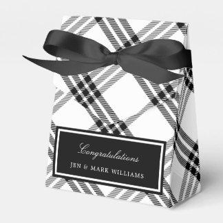 Black & White Buffalo Check Favor Box