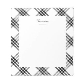 Black & White Buffalo Check Notepad
