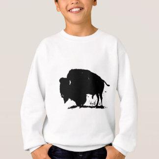 Black & White Buffalo Silhouette Sweatshirt