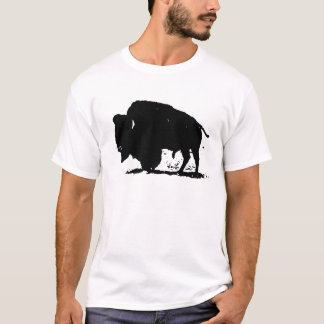 Black & White Buffalo Silhouette T-Shirt