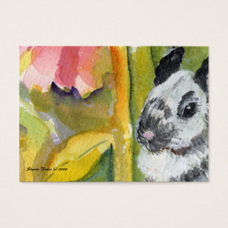 Black & White Bunny ACEO ATC Art Card