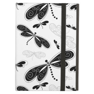 Black & White Butterflies Pattern Cover For iPad Air