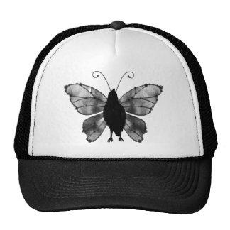 Black & White Butterfly Raven Trucker Hat