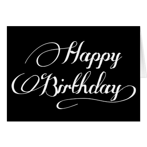 Happy Birthday Simple Calligraphy | quotes.lol-rofl.com