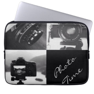 Black & White Cameras Photography typography Laptop Computer Sleeve