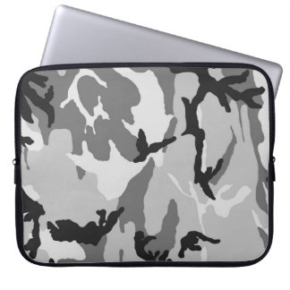 Black&White Camo Laptop Sleeve