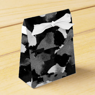 Black & White Camouflage Motif Favor Box