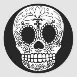 Black/White Candy Skull Stickers