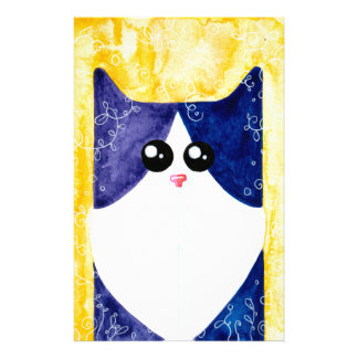 Black White Cat ALLCATSGOOD Stationery