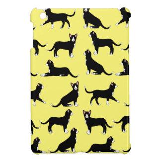 black white cat iPad mini cover