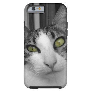 Black White Cat Photo - Oh Those Eyes! Tough iPhone 6 Case