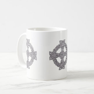 BLACK & WHITE CELTIC CROSS MUG