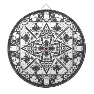 Black White Celtic Medieval Fantasy Dartboard