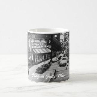 Black & White Chagrin Falls Ohio Painting Mug