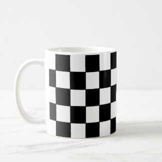 Black white checked - Mug