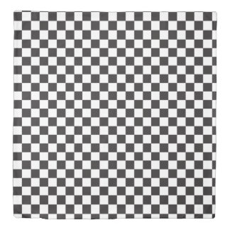 Black & White Checker Pattern Duvet Cover