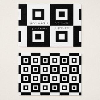 Black & White Checkerboard Illusion Business Card