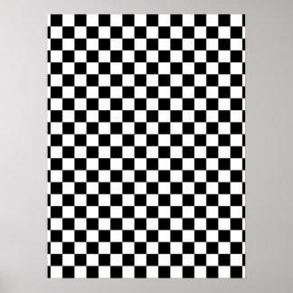 Black & White Checkerboard Poster