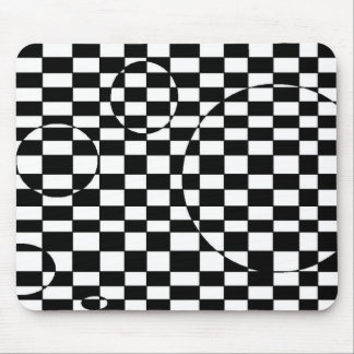 Black & White checkered 3d illusion Mouse Pad