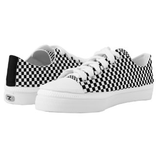 Black White Checkered Low-Top Sneakers