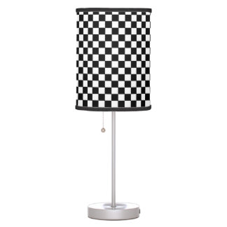 black&white checkered pattern table lamp