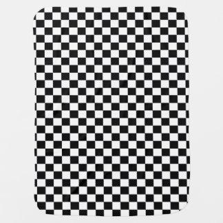 Black & White Checks Checkered Baby Blanket
