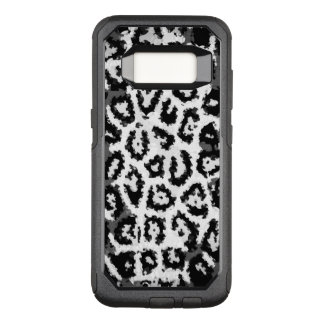 Black&White Cheetah Abstract Pattern OtterBox Commuter Samsung Galaxy S8 Case