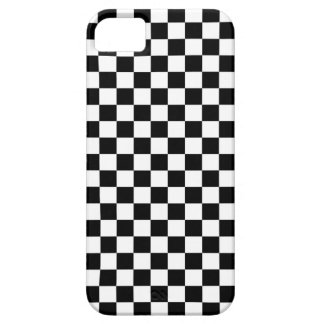 Black & White Chequerboard Background iPhone 5 Case