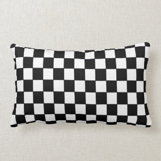 Black White chequered - Pillow
