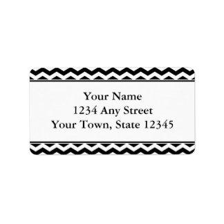 Black White Chevron Envelope Address Labels Custom Address Label