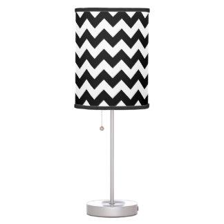 black/white chevron stripy pattern table lamp