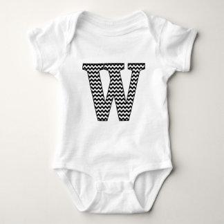 Black & White Chevron W Baby Jersey Bodysuit
