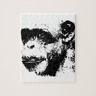 Black & White Chimpanzee Pop Art Puzzles