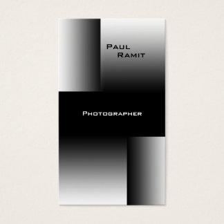 Black White Chrome Business Card BW 7 Photographer